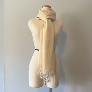Vintage cream scarf pashmina